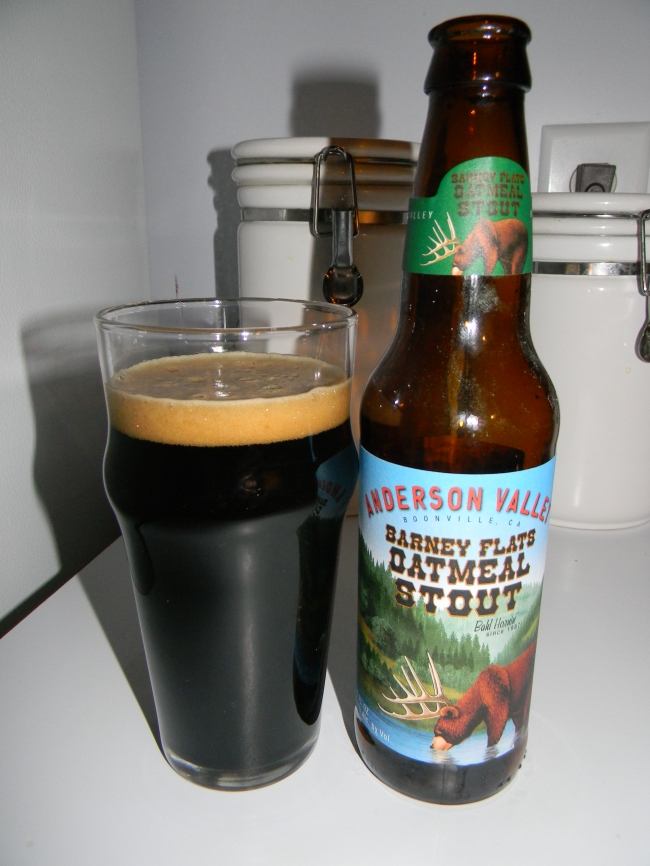 Review of Anderson Valley Barney Flats Oatmeal Stout