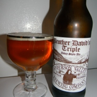 Review of Anderson Valley Brother David's Triple